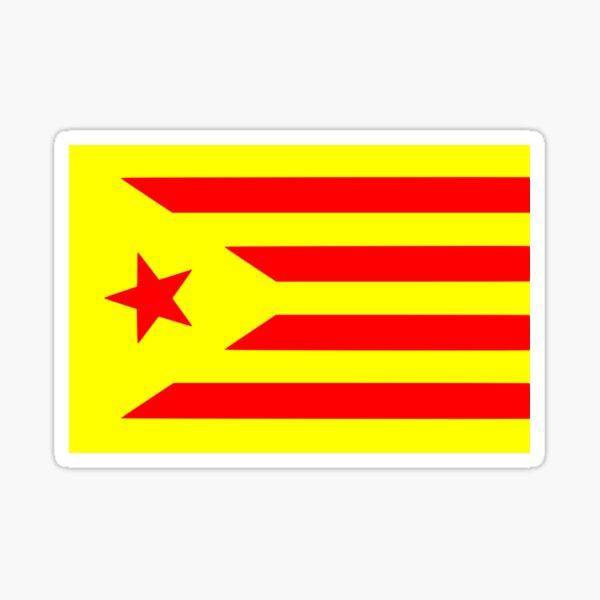 Catalunya independiente (Senyera) Pegatina
