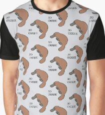 DUCK-BILLED PLATYPUS - SO UNIQUE  Graphic T-Shirt