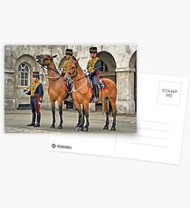 The Queens Life Guard and horses - City of London Postcards