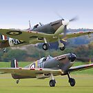 Spitfire Scamble Duxford by Colin  Williams Photography