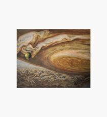 Callisto passing before Jupiter, space exploration, astronomy Art Board