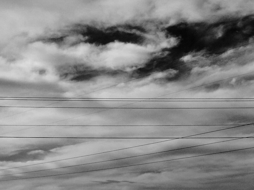 Woven Sky (B+W) by Timothy Wilkendorf