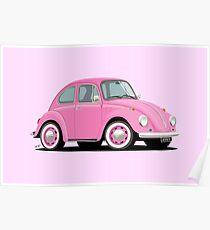 VW Beetle · Pink Poster