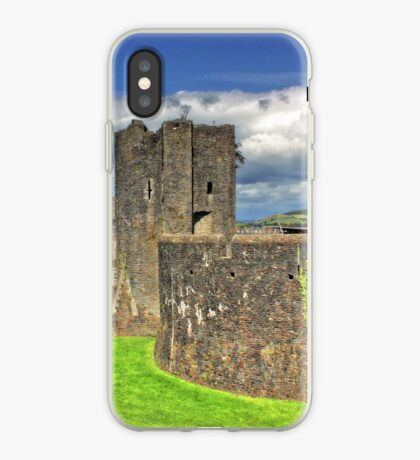 Castles of Wales - Welsh Castle, Caerphilly Castle iPhone Case