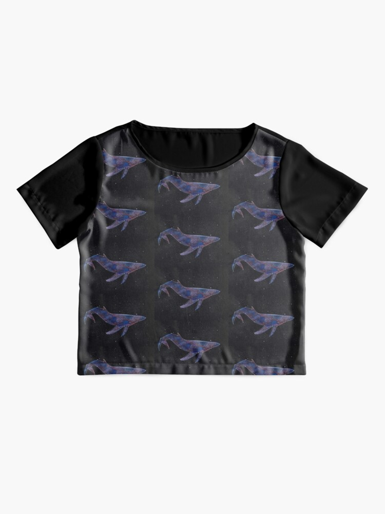 Alternate view of Constellation Galaxy Whale Chiffon Top