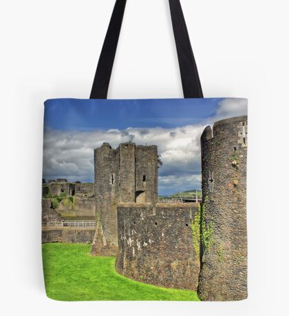 Castles of Wales - Welsh Castle, Caerphilly Castle Tote Bag