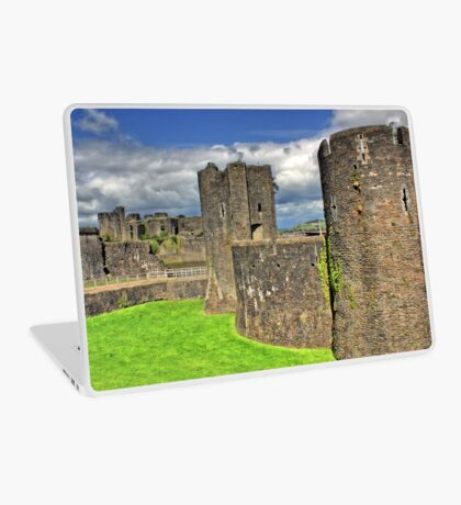 Castles of Wales - Welsh Castle, Caerphilly Castle Laptop Skin