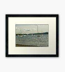 LAKE BOATS Framed Print