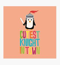 Cutest Penguin Knight cute-Design Photographic Print