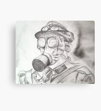 WWI Gas Mask Canvas Print
