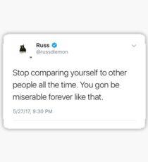 Pegatina Russ Tweet