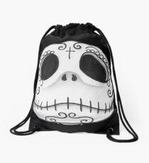 Sugar Skull Jack Skellington face Drawstring Bag