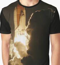 Rocket Makes Clouds Lifting Off Graphic T-Shirt