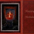 Candle Flame, Happy Holidays by toots