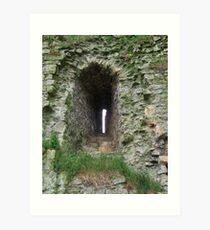 Castle Window - Helmsley Castle Art Print