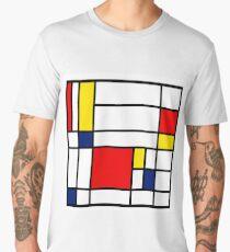 Mondrian Composition Men's Premium T-Shirt