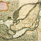 The Isles of Montreal, Canada antique map circa 1761 by Glimmersmith