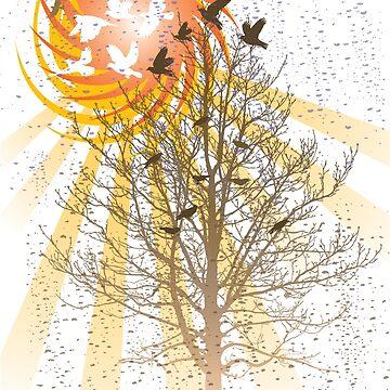 Bird Sunrise by Lisann