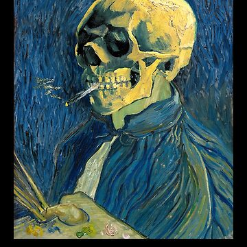 Van Gogh Skull and Self-Portrait by SymbolGrafix