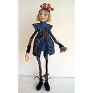 Water Spirit Nature Girl - art doll figurative sculpture  by LindaAppleArt