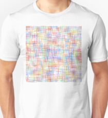 Abstract multicolored checkered pattern on white background. T-Shirt