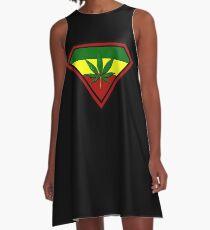 Super hero Cannabis A-Line Dress
