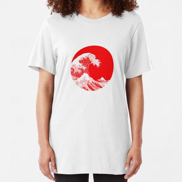 Hokusai, Kanagawa great wave Slim Fit T-Shirt