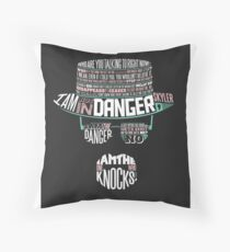 One Who Knocks Throw Pillow