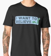 I want to believe -Nessie edition- Men's Premium T-Shirt