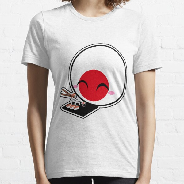 Japanball - Sushi - Polandball Countryball  Essential T-Shirt