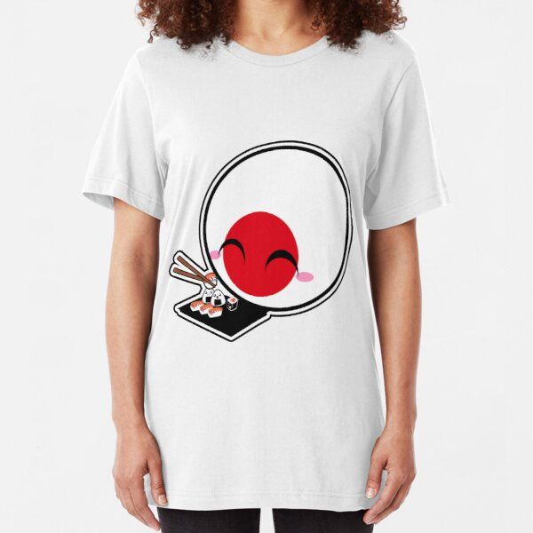 Japanball - Sushi - Polandball Countryball  Slim Fit T-Shirt