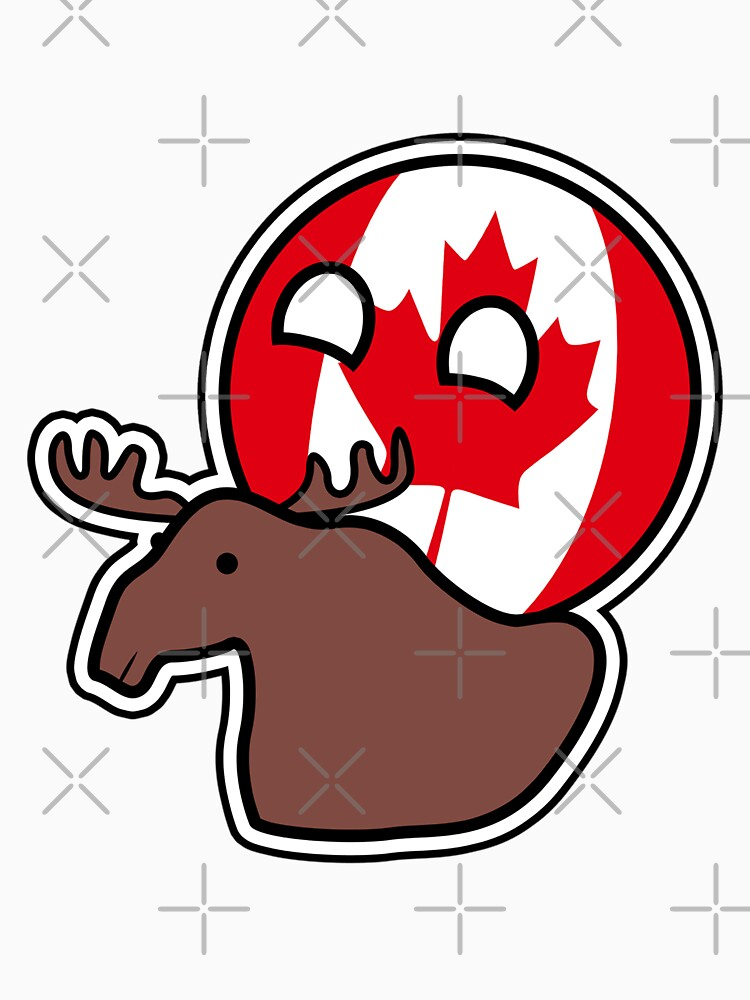 Canadaball - riding Moose, Countryball / Polandball by poland-ball