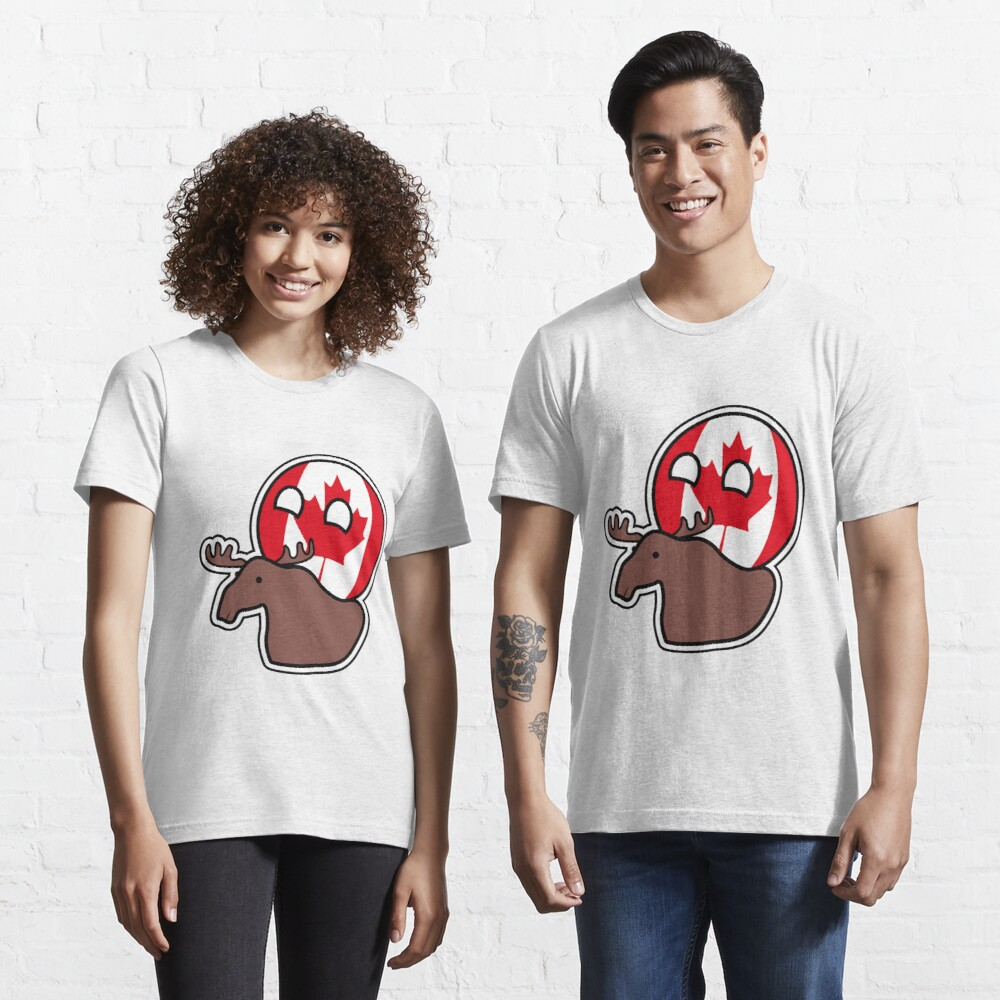 Canadaball - riding Moose, Countryball / Polandball Essential T-Shirt