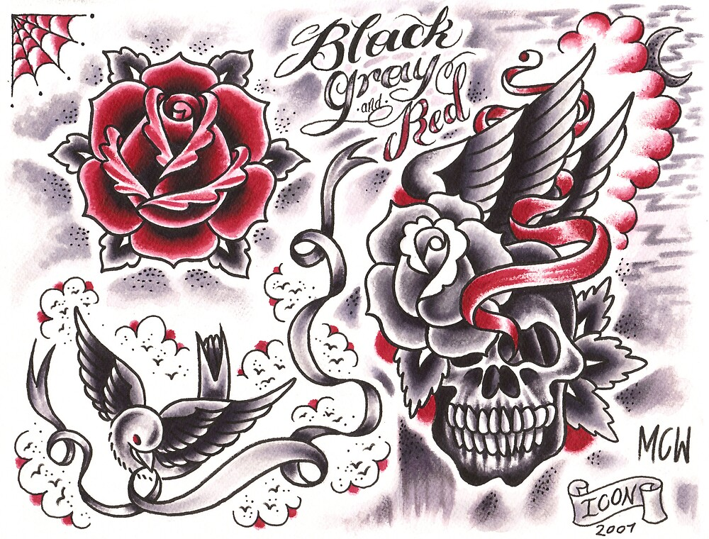 black and gray and red by MattWolf