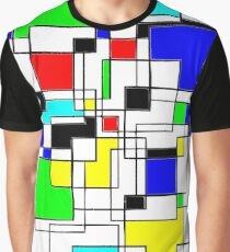 Random Squares Graphic T-Shirt