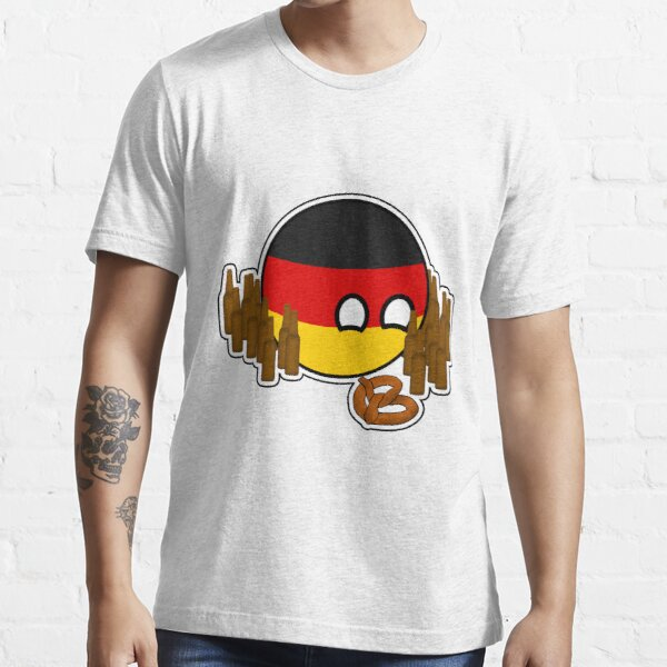 Germanyball Polandball Countryball w/ Beer and Pretzels Essential T-Shirt