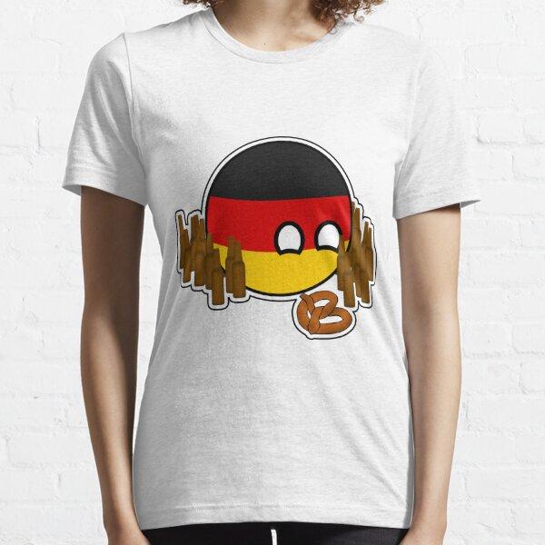Germanyball Polandball Countryball w/ Beer and Pretzels Essential T-Shirt