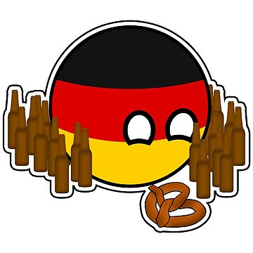 Germanyball Polandball Countryball w/ Beer and Pretzels by poland-ball