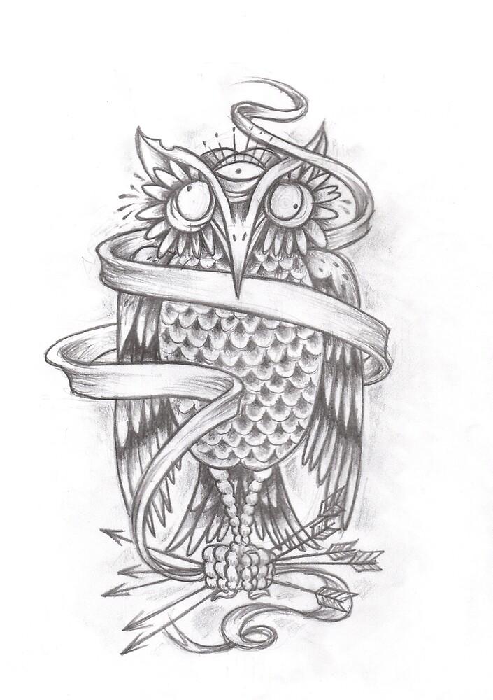 3 eyed owl by MattWolf