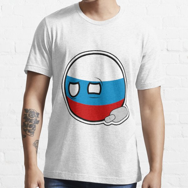 Russiaball with empty bottle | Polandball Countryball Essential T-Shirt