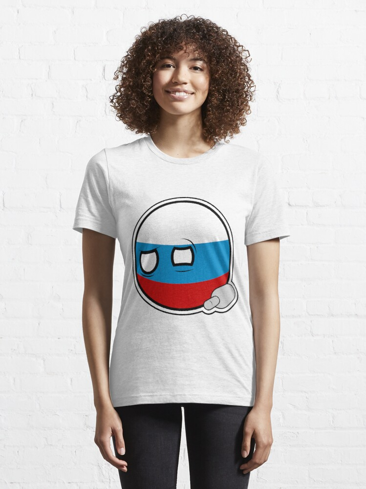 Alternate view of Russiaball with empty bottle | Polandball Countryball Essential T-Shirt