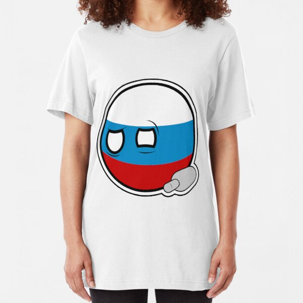 Russiaball with empty bottle | Polandball Countryball Slim Fit T-Shirt