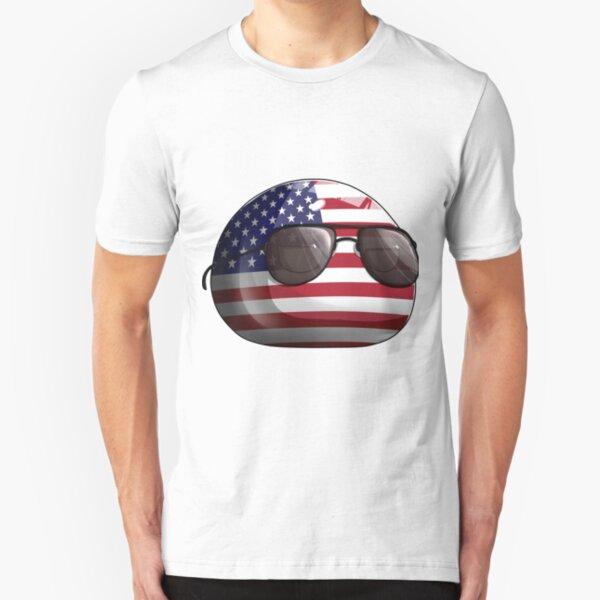 Americaball, Muricaball, USAball Polandball Countryball Slim Fit T-Shirt