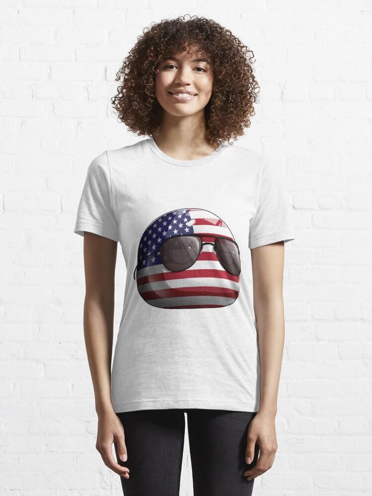 Alternate view of Americaball, Muricaball, USAball Polandball Countryball Essential T-Shirt
