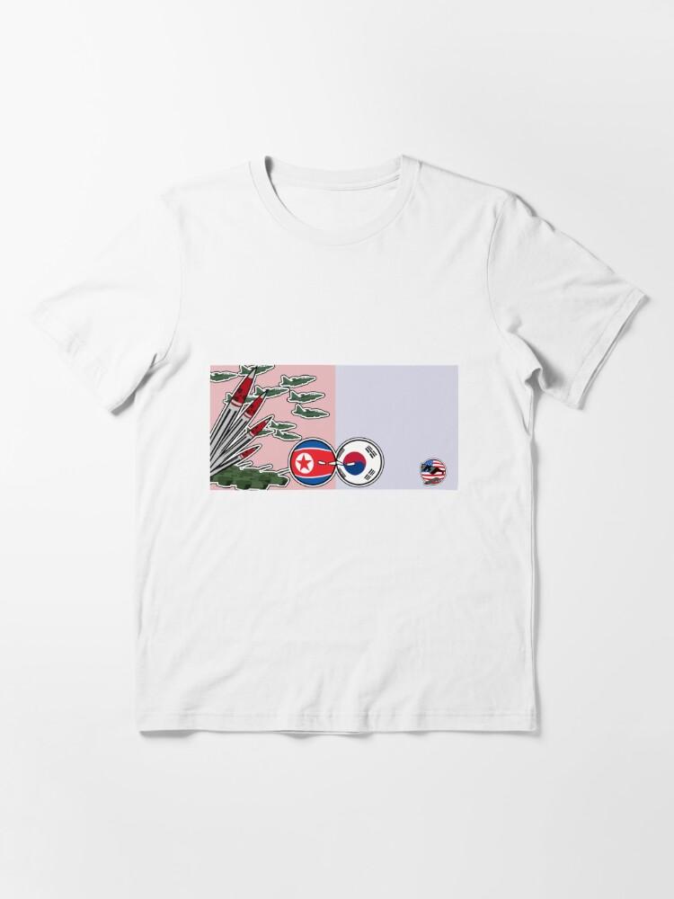 Alternate view of DPKR Koreaball conflict with USAball | Polandball Countryball Essential T-Shirt