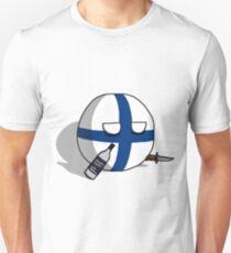 PERKELE, Finlandball with Knife and Bottle | Polandball's Countryballs Unisex T-Shirt