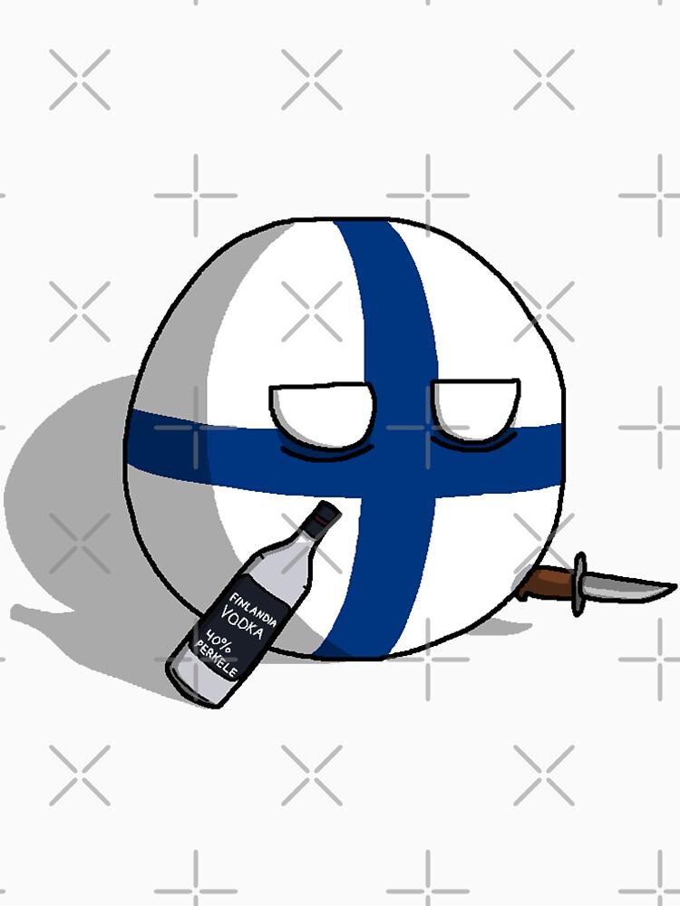 PERKELE, Finlandball with Knife and Bottle | Polandball's Countryballs by poland-ball