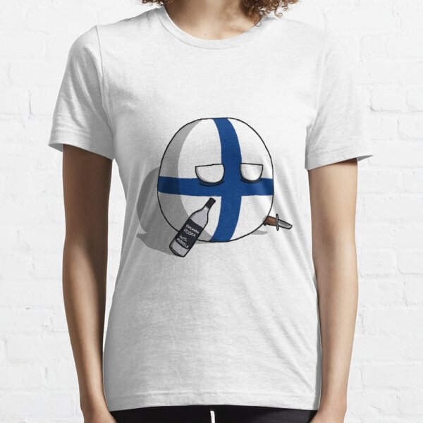PERKELE, Finlandball with Knife and Bottle | Polandball's Countryballs Essential T-Shirt