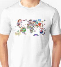 Polandball Countryball World Map Unisex T-Shirt