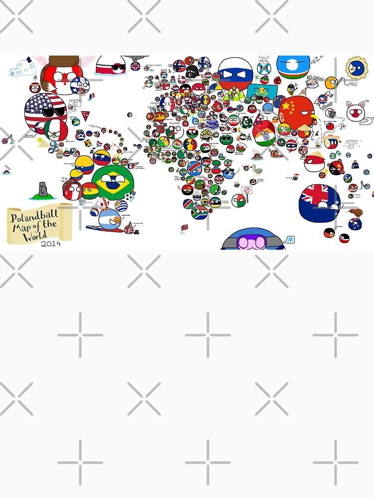 Polandball Countryball World Map by poland-ball
